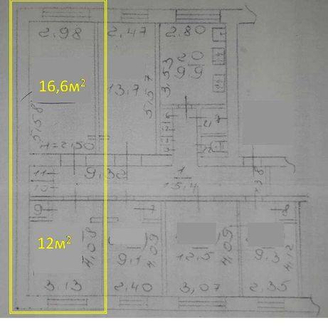 2х комнатная гостинка, можно свой тамбур и санузел, ХТЗ Косарева 8