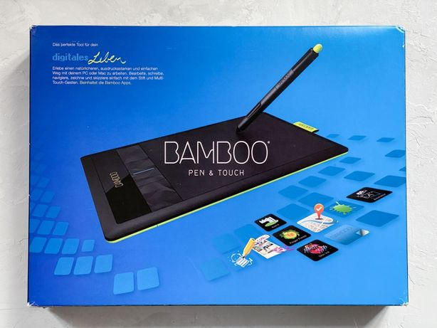 Графический планшет Wacom Bamboo Pen & Touch CTH-470 Small Black
