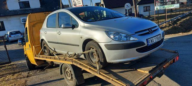 Peugeot 307 zderzak ,lampy szyba koła cwiartka
