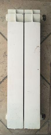 Kaloryfer, grzejnik aluminiowy wąski, mały, łazienkowy