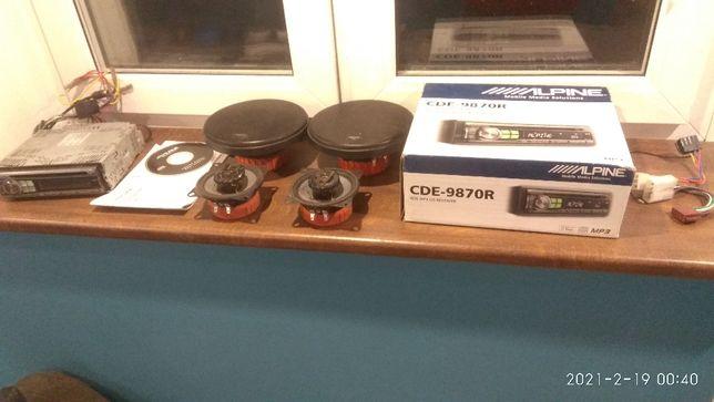 Alpine CDE-9870r + głośniki HERTZ 2 x DCX165 + 2x DCX100