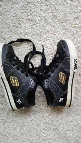 Skorzane butki chlopiece w stylu skate