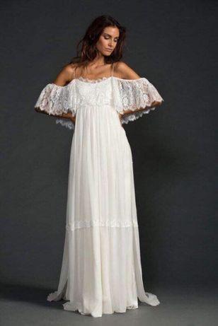 Свадебное платье бохо рустик