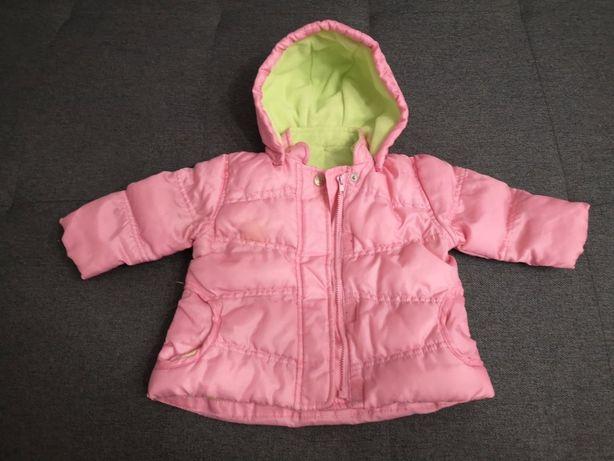 Różowa kurtka dla dziewczynki 3-6 miesięcy