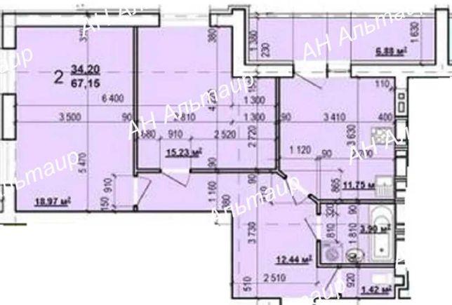 ЖК Мира-3! Продам 2 ком.кв 67,15 м2. Большая кухня! Индустриальная GT