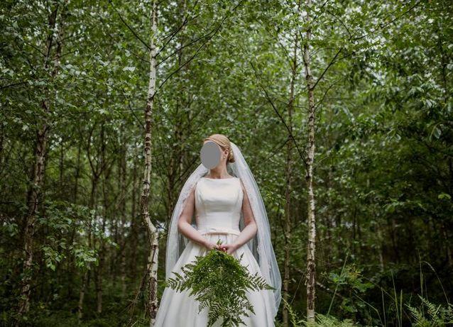 Piękna suknia ślubna PRONOVIAS Barcaza