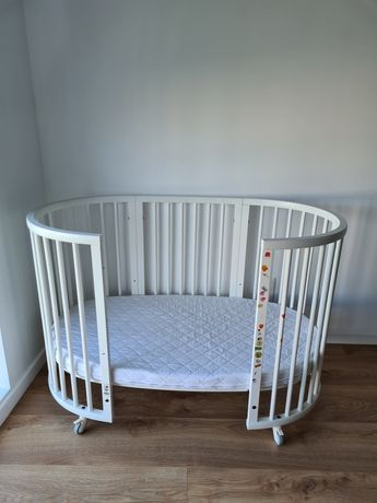 Кроватка норвежского бренда stokke, комплект 2в1, от 0 до 3 лет