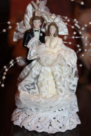 Свадебная фигурка-декор Англия Festival bride and groom England