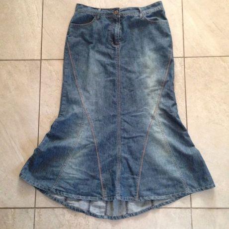 Spodnica jeans długa rybka 38 GEORGE