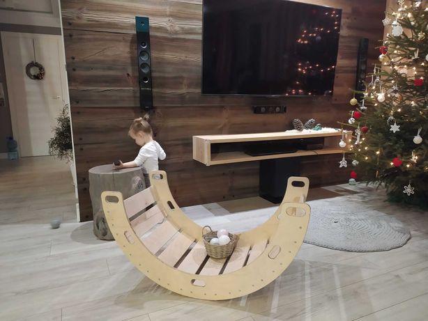 Nowy duży drewniany bujak Montessori.