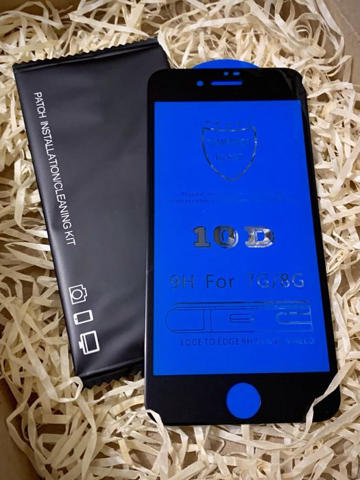 Защитное стекло 10 D на IPhone 7/8 Киев - изображение 1