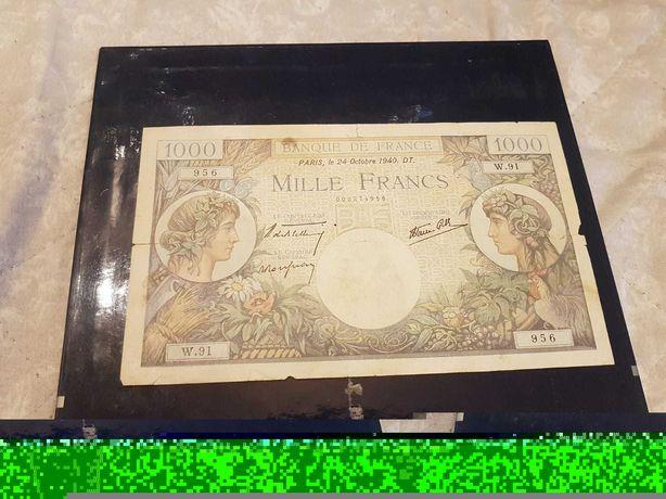Sprzedam 1000 frankow banknot