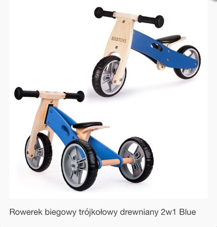 Rowerek biegowy 2 w 1 drewniany ECOTOYS