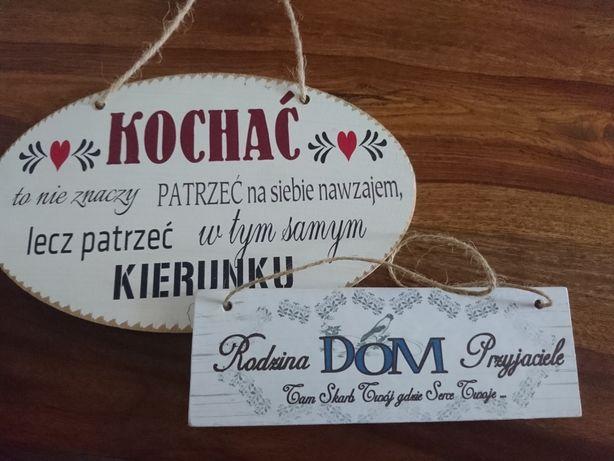 Tabliczka napis kochać ...