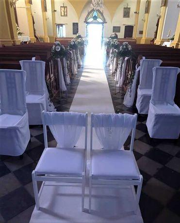 Białe KRZESŁA na Ślub