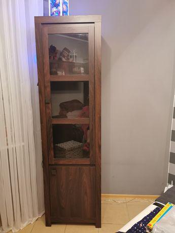 Komplet mebli szafa, komoda, witryna, półka wisząca
