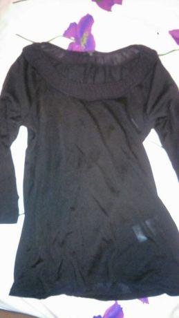 Czarna bluzka jedwab