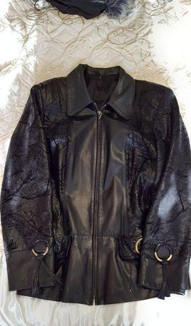 Куртка жакет кожаный