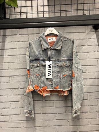 Włoska kurtka jeansowa Wyia, roberta biagi, hit, piękna