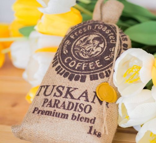 кофе в зернах TUSKANI PARADISO. Вкус и аромат не имеют аналогов! кава