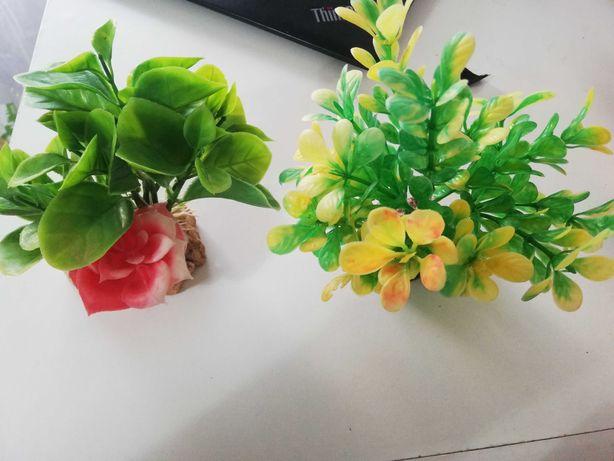 Plantas de plástico para aquário ou terrário
