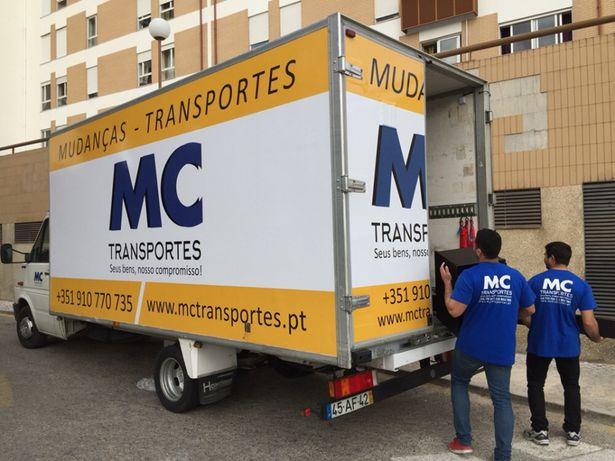 Mudanças e transportes nacionais e internacionais.