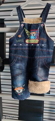 Зимовий джинсовий комбінезон