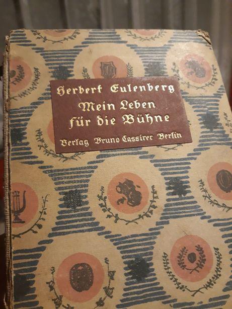 1919r. Pozłacana stara książka niemiecka