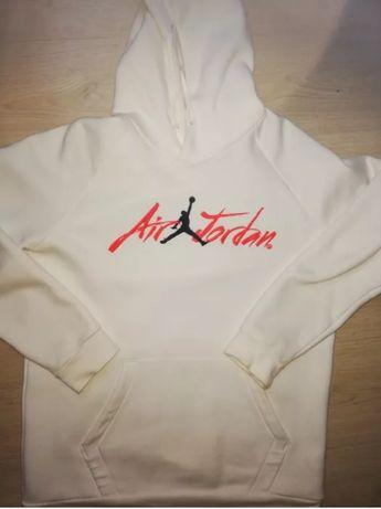 Biała bluza Nike Air Jordan rozmiar L stan idealny założona kilka razy