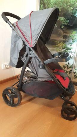 Продам прогулочную коляску серо-красную