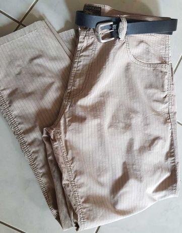 XL- Spodnie letnie przewiewne męskie damskie prążki na lato