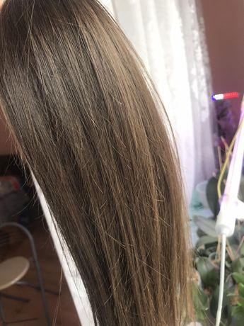Волосы натуральные детские славянские 43см срез для наращивания