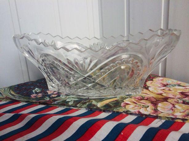 Ваза / салатница хрустальная и толстое стекло