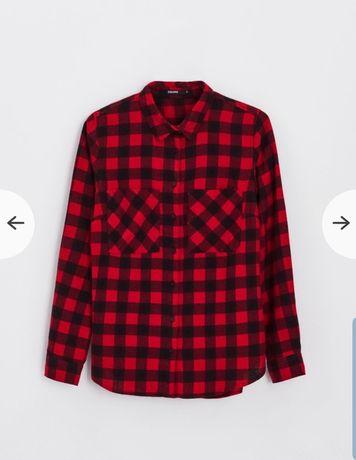 Koszula, bluzka  w kratę, kratkę cropp M