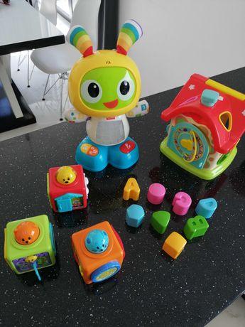 Sprzedam zabawki robat bebo, domek, kostki smily jouer