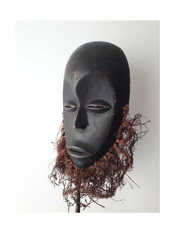 mascara africana tribal antiga - Congo