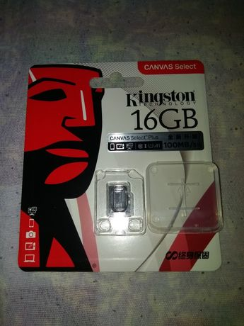 MicroSD карта памяти Kingston 16GB