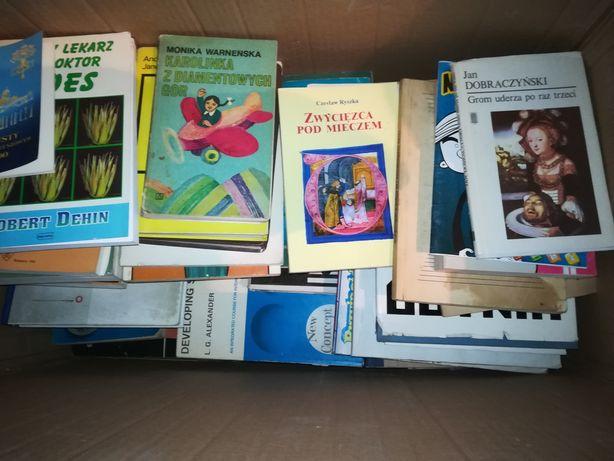 Karton książek,różne książki