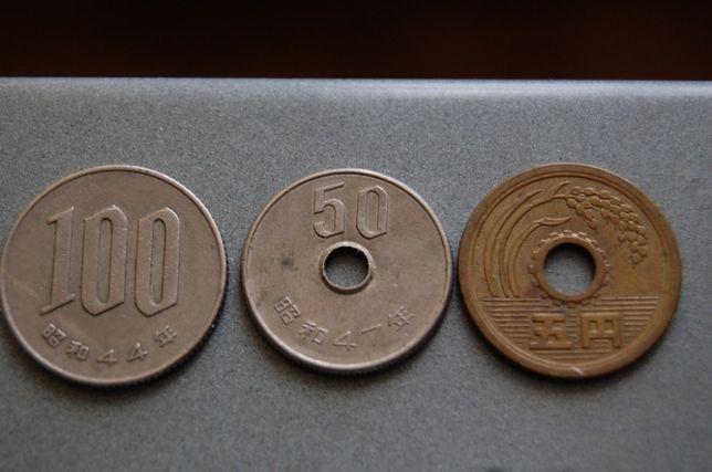 Moneta, monety japońskie, jeny.