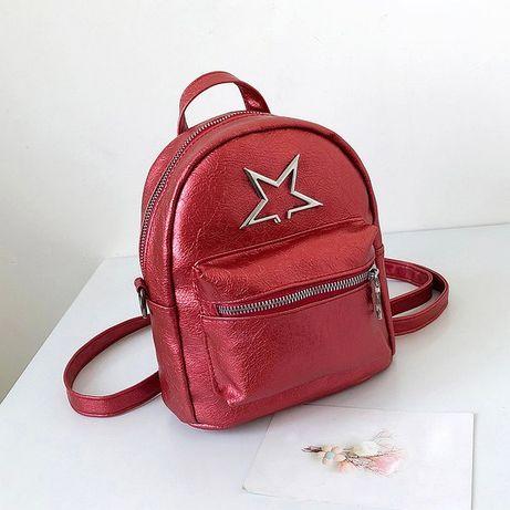 Рюкзак женский, подростковый красный