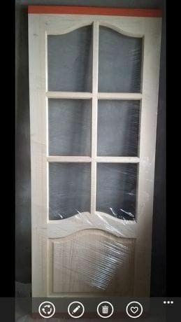 Дерев'яні двері, глухі, під скло