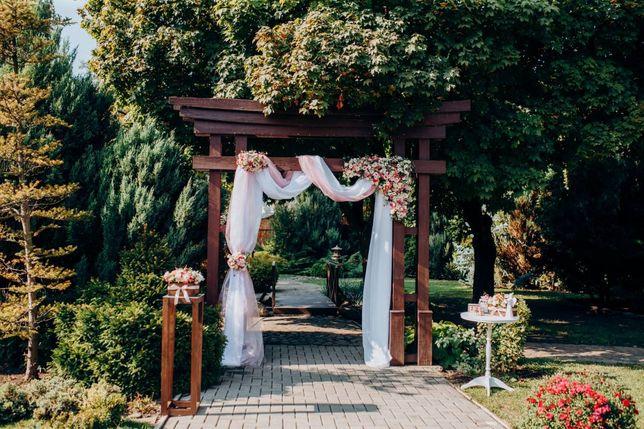 Декор свадьбы, выездная церемония, арка, президиум, цветы