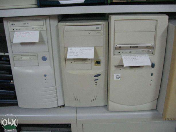 Computadores usados a funcionarem