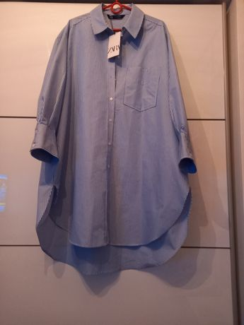 Zara koszula w paski oversize