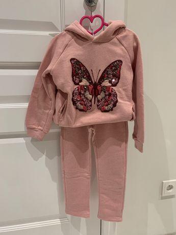 Zara Girls bluza, spodnie sportowe, rozm. 116, różowy dres