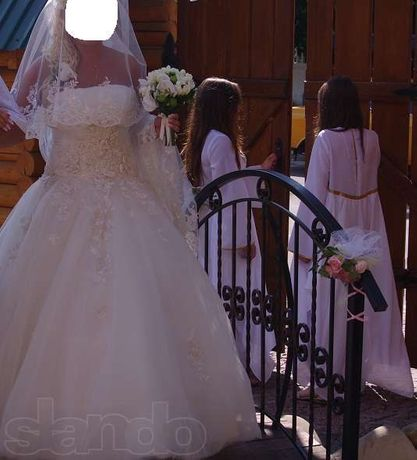 Свадебное платье цвет айвори