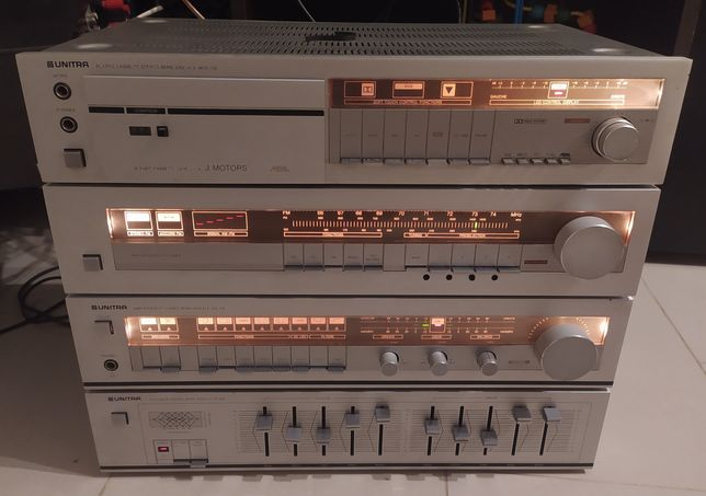 Wieża unitra WS 432 FS 032 MDS AS632 wzmacniacz equalizer deck radio