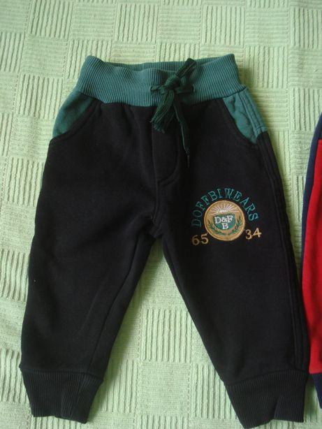 Брюки утепленные, спортивные брюки на байке на мальчика 74/86 см