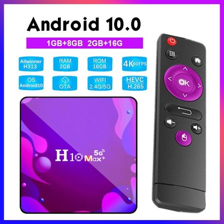 TV BOX Android 10 4K - 1+8G (2+16G) - H10 Max + Plus