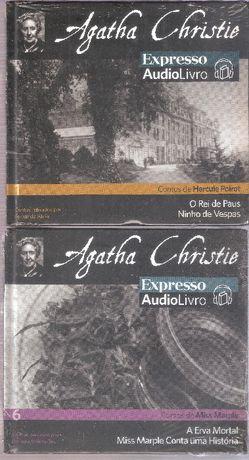 CD AudioLivro Agatha Christie Contos de Poirot e Miss Marple